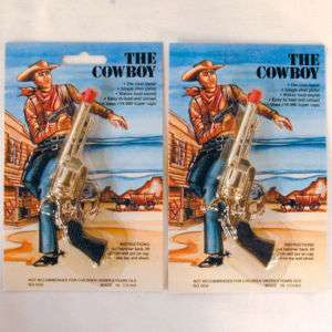 new COWBOY DIE CAST CAP GUN toy single shot guns NV446