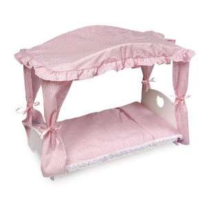 Best Quality Canopy Doll Bed w/Bedding By Badger: Toys & Games
