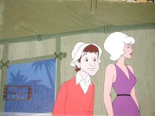 production cel original hand painted master production background