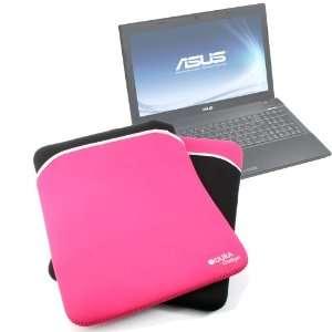 Durable Black & Pink Reversible Neoprene Laptop Case For