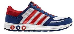 New Adidas Sport LA TRAINER Running Shoes White Red Blue Mens