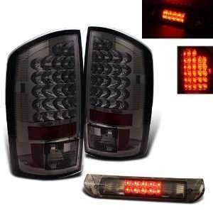 07 08 Dodge Ram LED Smoked Tail Lights + LED Brake Set Automotive