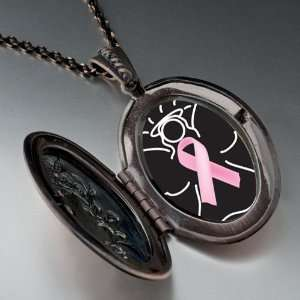 Angel Hope Pink Ribbon Pendant Necklace