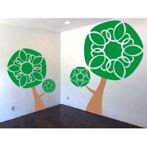 TWO Beautiful Trees Vinyl Decal Sticker Wall Nature Nice