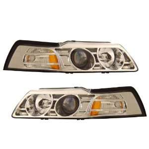 1999 2004 Ford Mustang KS Chrome Halo Projector Headlights