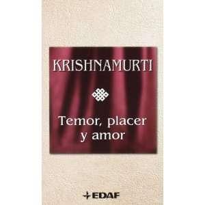 Temor, placer y amor (9788441419407) Jiddu Krishnamurti