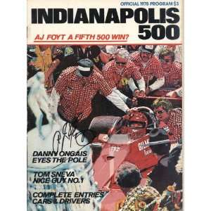 A.J. Foyt Autographed/Hand Signed 1978 Indianapolis 500
