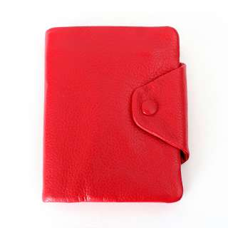 Genuine Leather Medium Bifold Wallet Back,Green,Pink,Purple,Orange