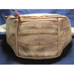 Fanny Pack with Old World Map Design, Canvas Strap: Sports & Outdoors