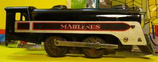 MarLines 0 4 0 Working Vintage Tin Plate Toy Train Steam Locomotive