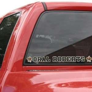 Oral Roberts Golden Eagles Automobile Decal Strip