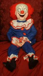 HAUNTED Ventriloquist Doll EYES FOLLOW YOU Creepy Clown Dummy Puppet