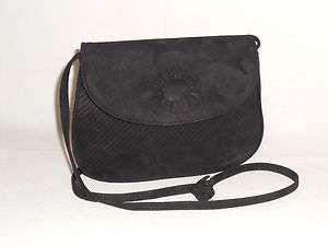 Bottega Veneta Small Black Suede Leather Evening Bag