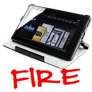 NEW  Kindle FIRE Ultra Slim Folding Black Leather Cover / Case