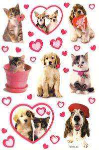 American Greetings Valentines Day Cats & Dogs Stickers