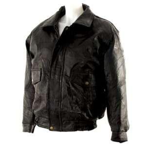 Mens Leather bomber jacket (Medium)
