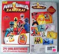 POWER RANGER SAMURAI 24 SCHOOL VALENTINE CARDS W/ BOOKMARKERS