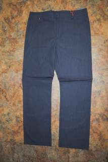 MODERN AMUSEMENT MENS BLUE STRIPE DRESS PANTS 36 NWT