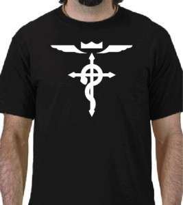FULL METAL ALCHEMIST CROSS Logo T shirt Anime Manga