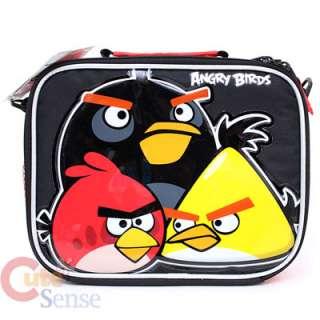 Angry Birds School 16 Large Roller Backpack & Lunch Bag Set 3 Birds