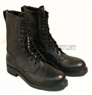 US MILITARY Black STEEL TOE Full Leather COMBAT JUMP BOOTS NEW (Made