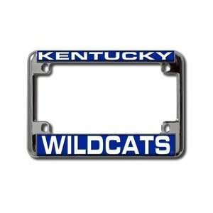 University of Kentucky Wildcats Chrome Motorcycle RV License Plate