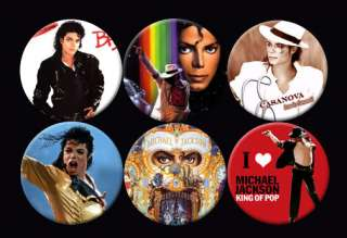 Michael Jackson King of Pop Music Buttons Pins Badges