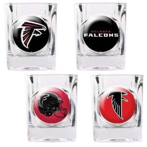 Atlanta Falcons 4pc Square Shot Glass Set: Sports