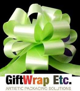 10 CITRUS LIME APPLE GREEN PULL BOWS RIBBON GIFT BASKETS CHRISTMAS