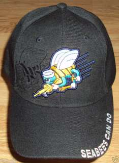 NAVY NAVAL USN SEABEES CAN DO BASEBALL CAP HAT OS