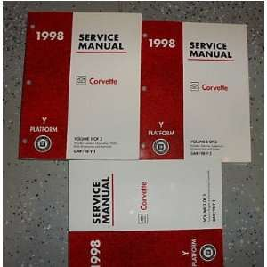 1998 Chevrolet Chevy Corvette Service Shop Manual Set (3
