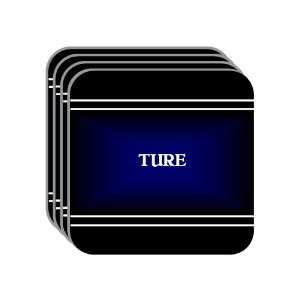 Personal Name Gift   TURE Set of 4 Mini Mousepad Coasters (black