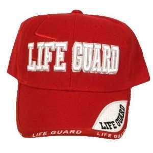 RED LIFEGUARD LAW ENFORCEMENT CAP HAT LIFE GUARD OSFA