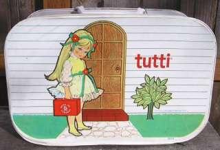 Vintage 1965 Mattel TUTTI Vinyl DOLL CARRY CASE Barbie & Skippers