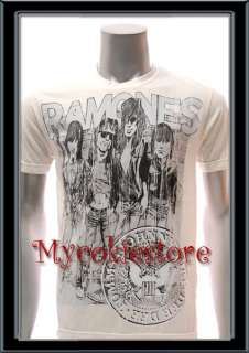 Sz M Ramones T shirt Vtg American Retro Rock Band Punk