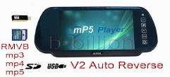 Reverse Rear View AV Video Color TFT LCD Monitor SD USB mp3 mp4 mp5