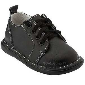 Squeak Baby Toddler Little Boys Black Leather Lace Up Shoes 3 12 Baby