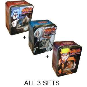 # ALL 3 TINS! Naruto CCG Unstoppable Force Tins   Naruto
