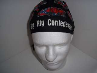 SKULL CAP HEAD WRAP BRAND BLACK REBEL FLAG TRUCK BIKER
