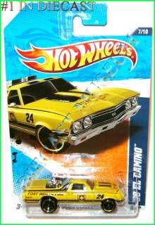 CHEVY CHEVROLET EL CAMINO FORT WORTH FIRE HOT WHEELS HW DIECAST 2011