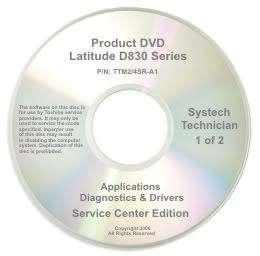 Dell Latitude D830 Repair Restore Recovery CD DVD