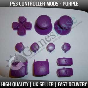 Purple Mod Kit   Buttons, DPad, Triggers, Thumbsticks   PS3MOD #5