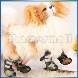 Pet Dog Puppy Boots Shoes Sneakers Paw Covers Velcro Closure 4 Styles