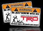 Toyota TRD Warning Sticker 4x4 Off Race Car Truck decal