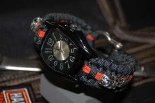 The ULTIMATE Harley Davidson Colors Paracord Watch Black