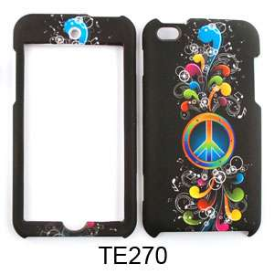 iPod Touch 4th GEN HARD SnapOn Case Cover RAINBOW PEACE SIGN MUSIC