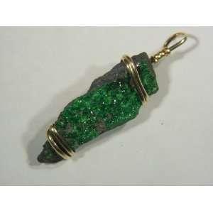 14 Ct. Gold Fill Wire Wrapped Uvarovite Gemstone Jewelry