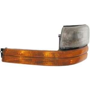 New Driver Signal Marker Light Lamp w/Black Stripe + Bezel