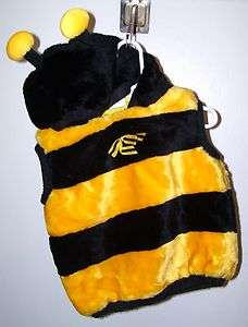 HALLOWEEN COSTUME BUMBLE BEE PLUSH HOODED VEST SIZE INFANTS 24 MONTHS