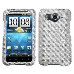 Silver Beling Diamante Protector Cover Case for HTC